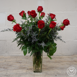 Standard Dozen Roses With Filler